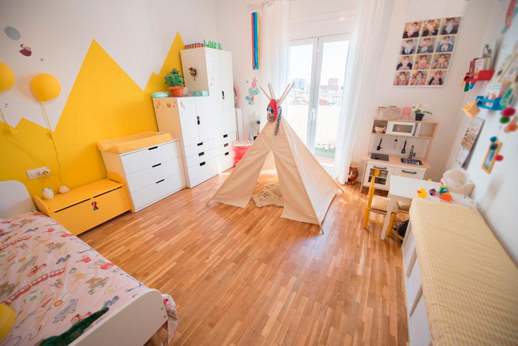 Habitación niños reformada